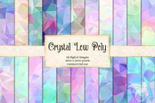 Print on Demand: Crystal Low Poly Digital Paper Graphic Backgrounds By Digital Curio