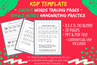 Print on Demand: Cursive Handwriting Words Practice Pages Graphic KDP Interiors By Tomboy Designs