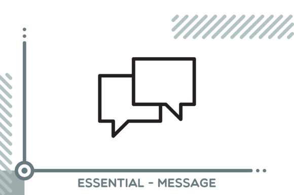 Essential - Message Graphic Icons By freddyadho
