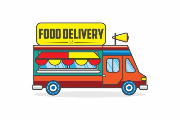 Print on Demand: Food Truck Vector Graphic Logos By Saber Studio