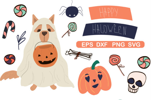 Print on Demand: Halloween Clipart Set, Halloween Paper Graphic Illustrations By Zolotovaillustrator
