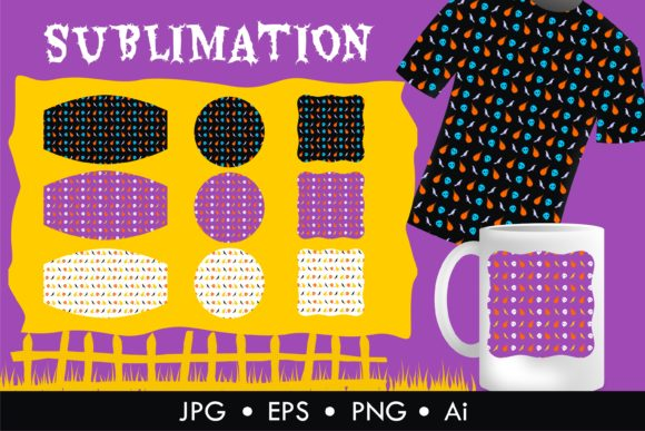 Print on Demand: Halloween Mask Mug Sublimation Graphic Illustrations By edywiyonopp