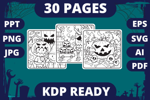 KDP | Halloween Coloring Book for Kids 2 Graphic