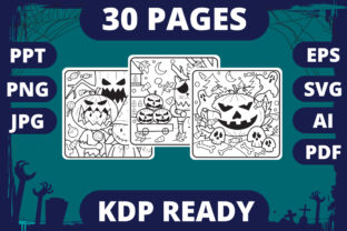 Print on Demand: KDP | Halloween Coloring Book for Kids 2 Graphic Coloring Pages & Books Kids By MikeToon Studio
