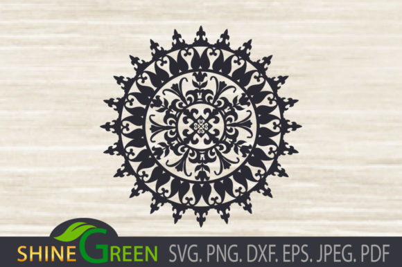 Print on Demand: Mandala - Floral Vintage Graphic Crafts By ShineGreenArt