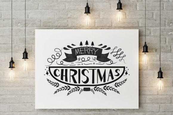 Merry Christmas Lettering Celebration Graphic Illustrations By baigern