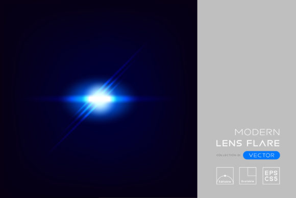 Modern Vector Lens Flare Set 01 Graphic Objects By moonbandit