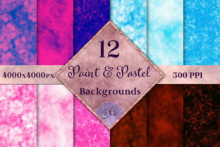 Print on Demand: Paint & Pastel Backgrounds - 12 Images Graphic Backgrounds By SapphireXDesigns