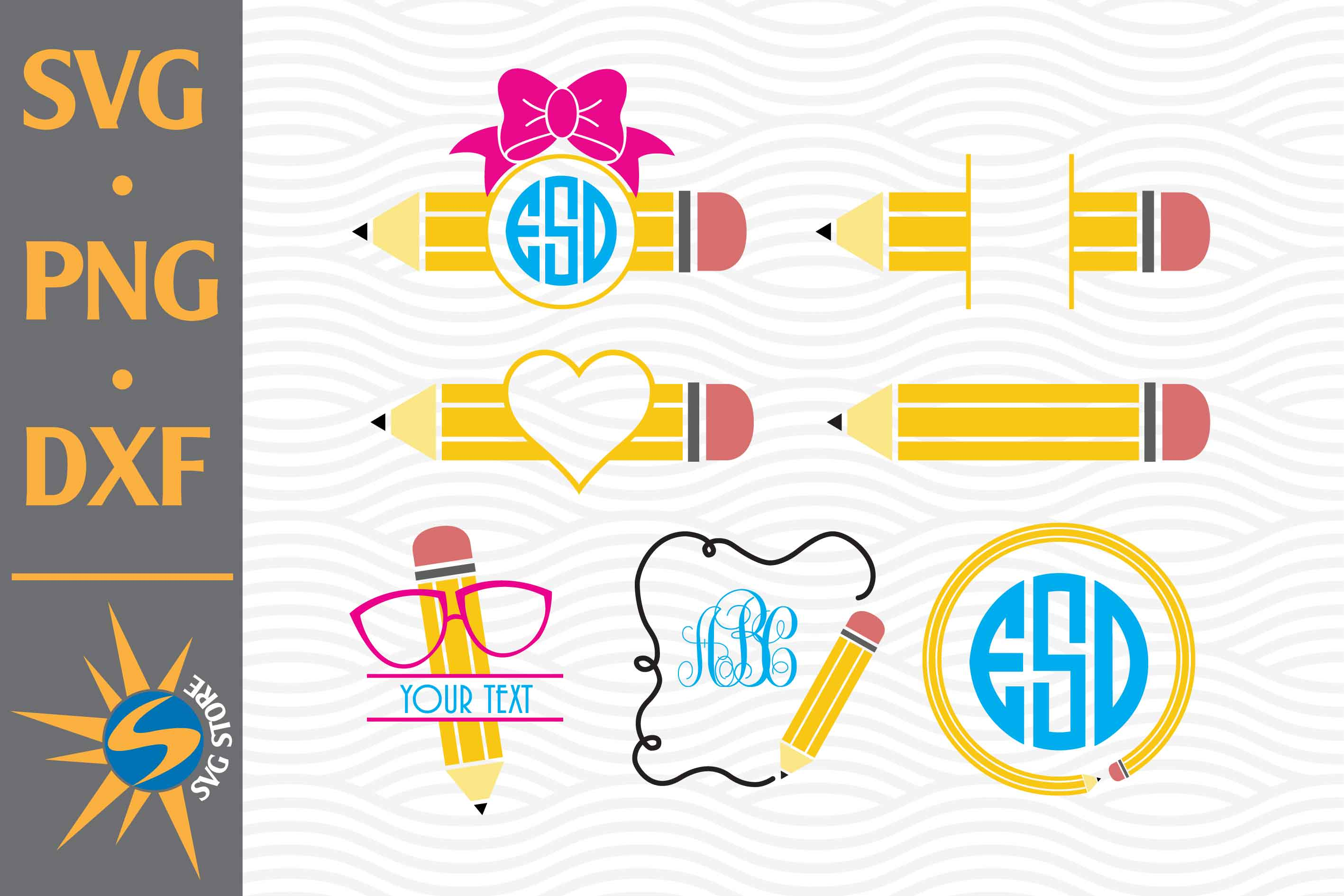 Svg File Svg Pencil Free Svg Cut Files Create Your Diy Projects Using Your Cricut Explore Silhouette And More The Free Cut Files Include Svg Dxf Eps And Png Files
