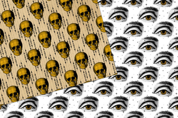 Print on Demand: Vintage Creepy Halloween Digital Paper Graphic Backgrounds By Digital Curio - Image 3