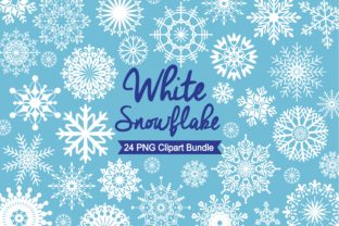 White Snowflake Clipart Graphic Illustrations By LeskaHamatyDesign