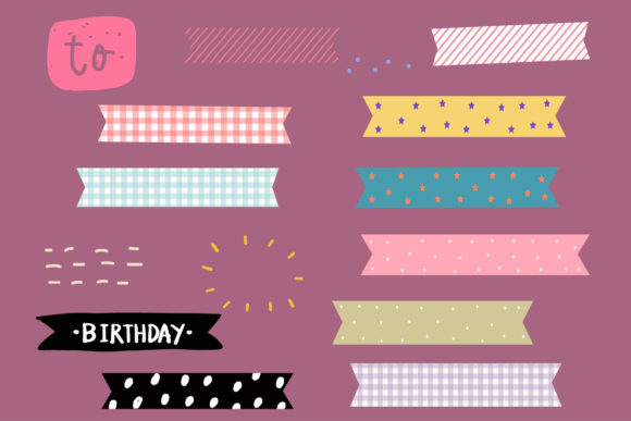 Print on Demand: Set Colorful Ribbon Elements Graphic Illustrations By Zweed n roll