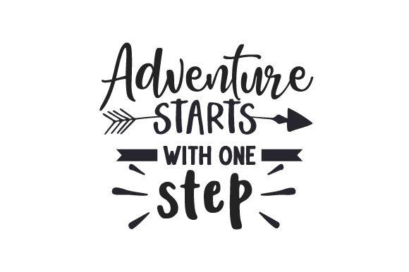 Adventure Starts with One Step Travel Craft Cut File By Creative Fabrica Crafts