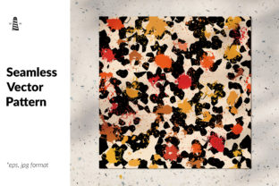 Print on Demand: Abstract Splashes - Fall Colors Graphic Patterns By northseastudio