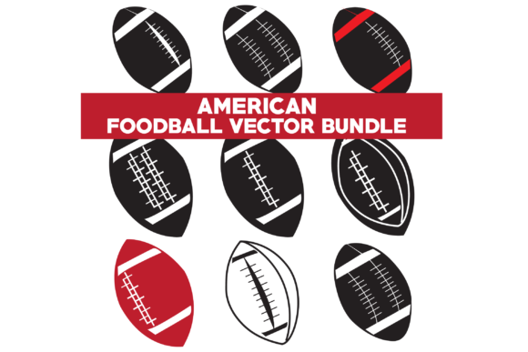 Print on Demand: American Food Ball Vector Bundle Graphic Icons By Graphics Home.net