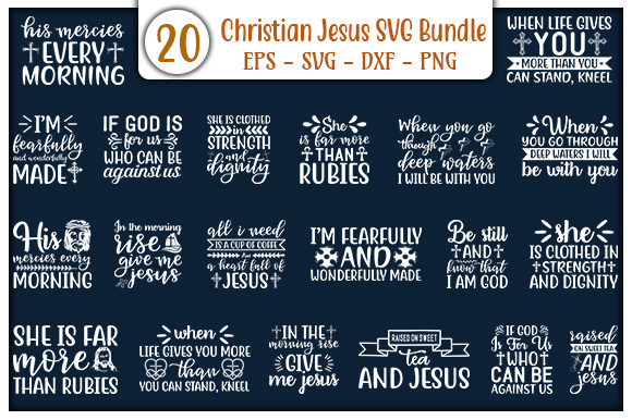 Print on Demand: Christian Jesus Design Bundle Graphic Print Templates By GraphicsBooth