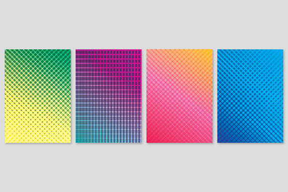Cover Design with Geometric Lines Graphic Backgrounds By medelwardi
