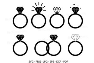 Diamond Wedding Ring   Graphic Crafts By RedCreations