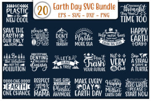 Print on Demand: Earth Day Quotes Design Bundle Graphic Print Templates By GraphicsBooth