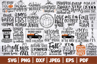 Fall Bundle Graphic Crafts By SeventhHeaven Studios
