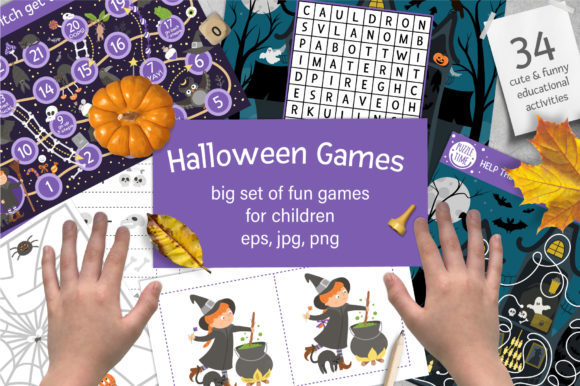 Halloween Games Graphic Teaching Materials By lexiclaus