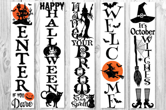 Halloween Home Porch Sign SVG V.1 Graphic Preview