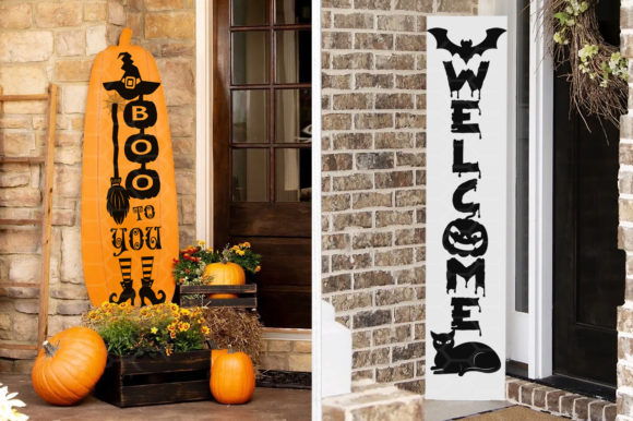 Halloween Home Porch Sign SVG V.2 Graphic Design