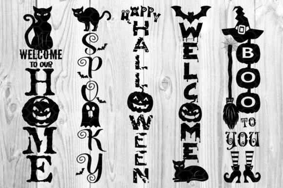 Halloween Home Porch Sign SVG V.2 Graphic Preview