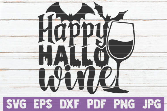 Happy Hallo Wine Graphic Crafts By MintyMarshmallows