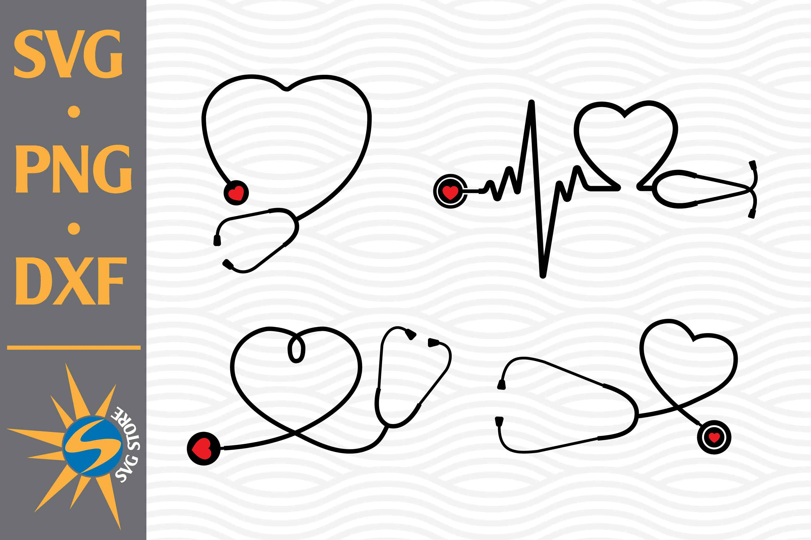 Heart Stethoscope Graphic By Svgstoreshop Creative Fabrica
