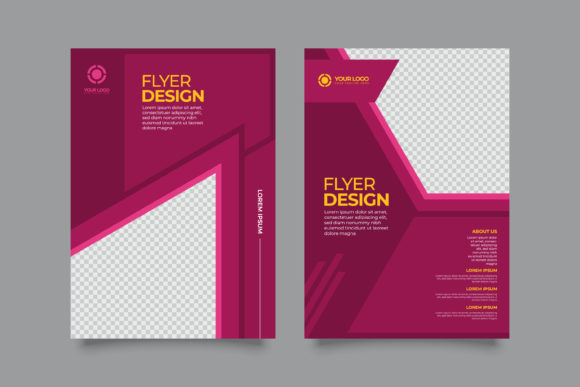 Print on Demand: Modern Business Flyer A4 Template Graphic Print Templates By Novendi88