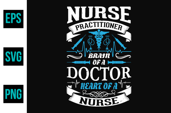 Print on Demand: Nurse Typography, T-shirt Graphics Graphic Print Templates By ajgortee