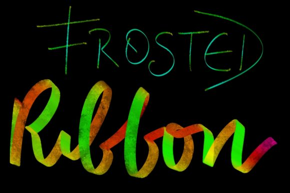 Print on Demand: Procreate Brush - Frosted Ribbon Graphic Brushes By Design 2 Last