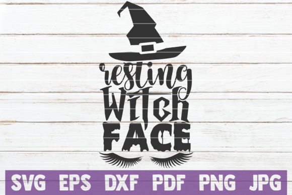 Resting Witch Face Graphic Crafts By MintyMarshmallows