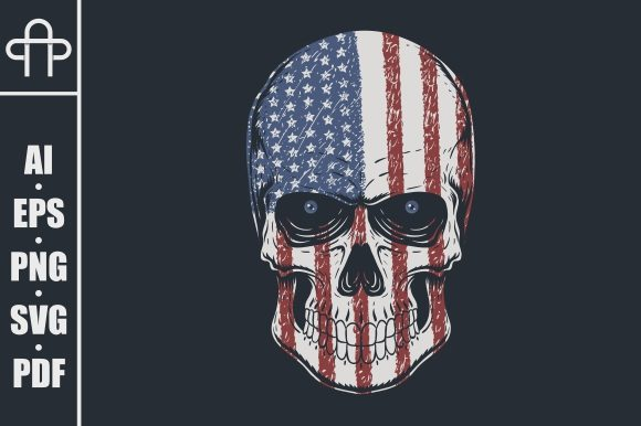 Print on Demand: Skull Head America Illustration Graphic Illustrations By Andypp