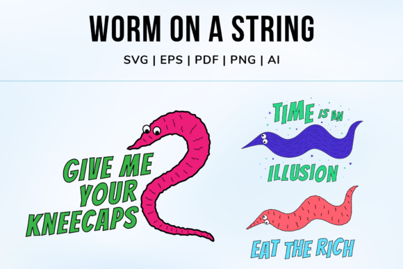 Print on Demand: Worm on a String Graphic Illustrations By Simply Swapnil