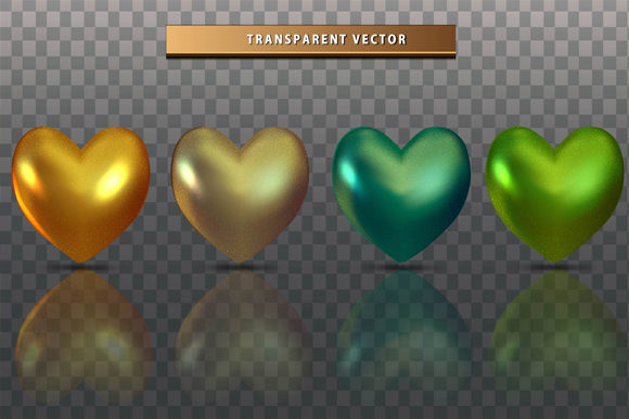 Print on Demand: Set Collection Love Colorfull Transparen Graphic Objects By imammuslim835