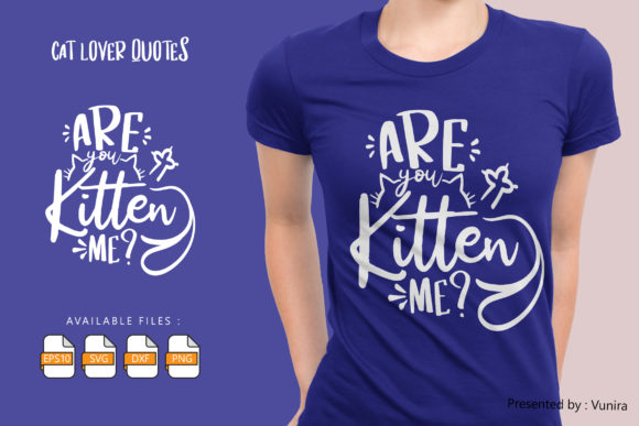 10 Cat Lover Bundle | Lettering Quotes Graphic Design