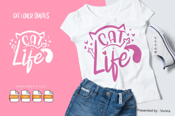 10 Cat Lover Bundle | Lettering Quotes Graphic Preview