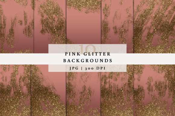 10 Pink Glitter Backgrounds Graphic Backgrounds By SagaDesignStudio