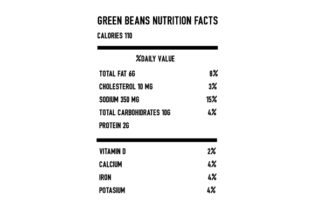 Green Beans Nutrition Facts Thanksgiving Craft Cut File By Creative Fabrica Crafts