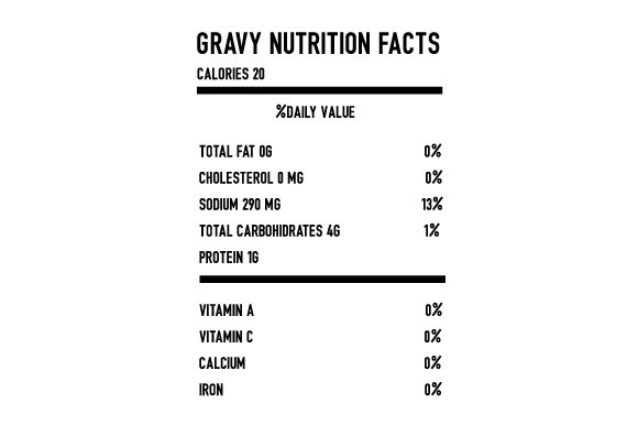 Gravy Nutrition Facts Thanksgiving Craft Cut File By Creative Fabrica Crafts