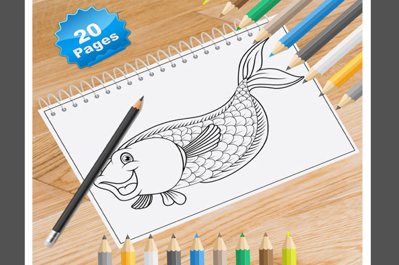 20 Fish Coloring Pages for Kids Graphic Coloring Pages & Books Kids By Coloring World