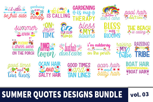 24 Summer Quotes Designs Bundle Graphic By Star Graphics Creative Fabrica