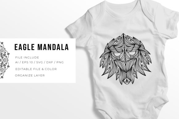 5 Eagle Bundle | Mandala Graphic Download