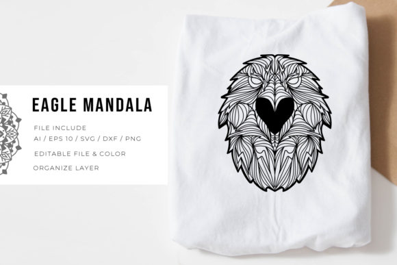 5 Eagle Bundle | Mandala Graphic Design