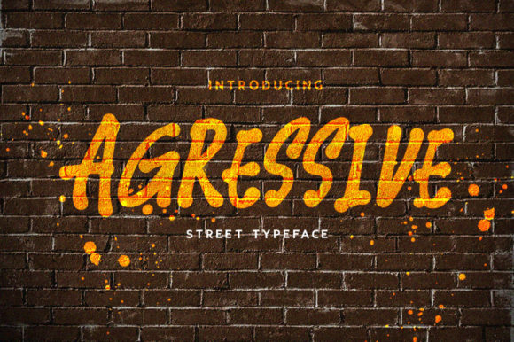 Print on Demand: Agressive Display Font By spectrumsupply.co