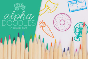 Print on Demand: Alpha Doodles Dingbats Font By browncowcreatives