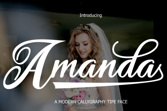Print on Demand: Amanda Script & Handwritten Font By maydhen studio