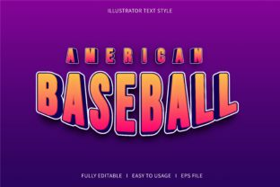 American Baseball - Text Effect Graphic Add-ons By 4gladiator.studio44